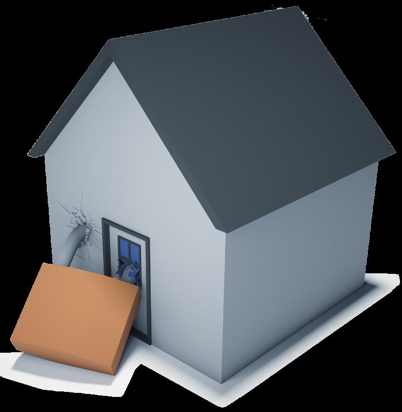 Image of locked house